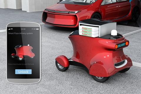 送货机器人,最后一公里,配送机器人,京东,菜鸟,真机智能,无人车